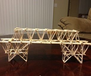 Toothpick Bridge Project Bridge