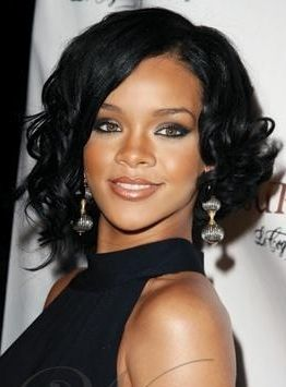 Rihanna Medium Haircuts