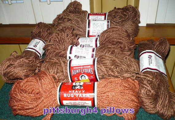14  Aunt Lydia's Brown Shades  Rug Yarn  See by pittsburgh4pillows