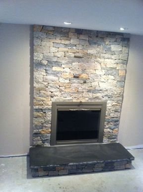 Fireplace Facelifts stone veneer hearth stone real stone ...