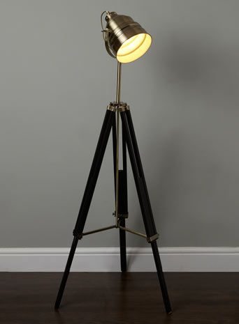 Camera tripod floor lamp floor lamps home lighting bhs £104 reduced