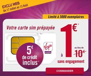 Promo Virgin Mobile 5000 Cartes Sim Prepayees Illimiday Avec 5