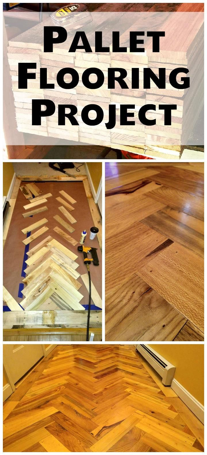 Chevron wood pallet flooring project 101 pallet ideas pallet chevron wood pallet flooring project 101 pallet ideas solutioingenieria Image collections