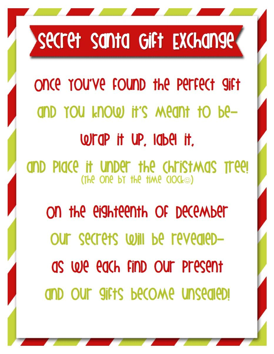 Secret Santa Is A Great Tradition To Play With Friends And Family Everyone Draws A Name A Secret Santa Invitation Work Secret Santa Secret Santa Gift Exchange