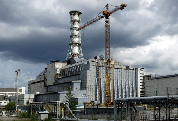 Chernobyl Reactor # 4 Sarcophagus   Chernobyl Nuclear Power