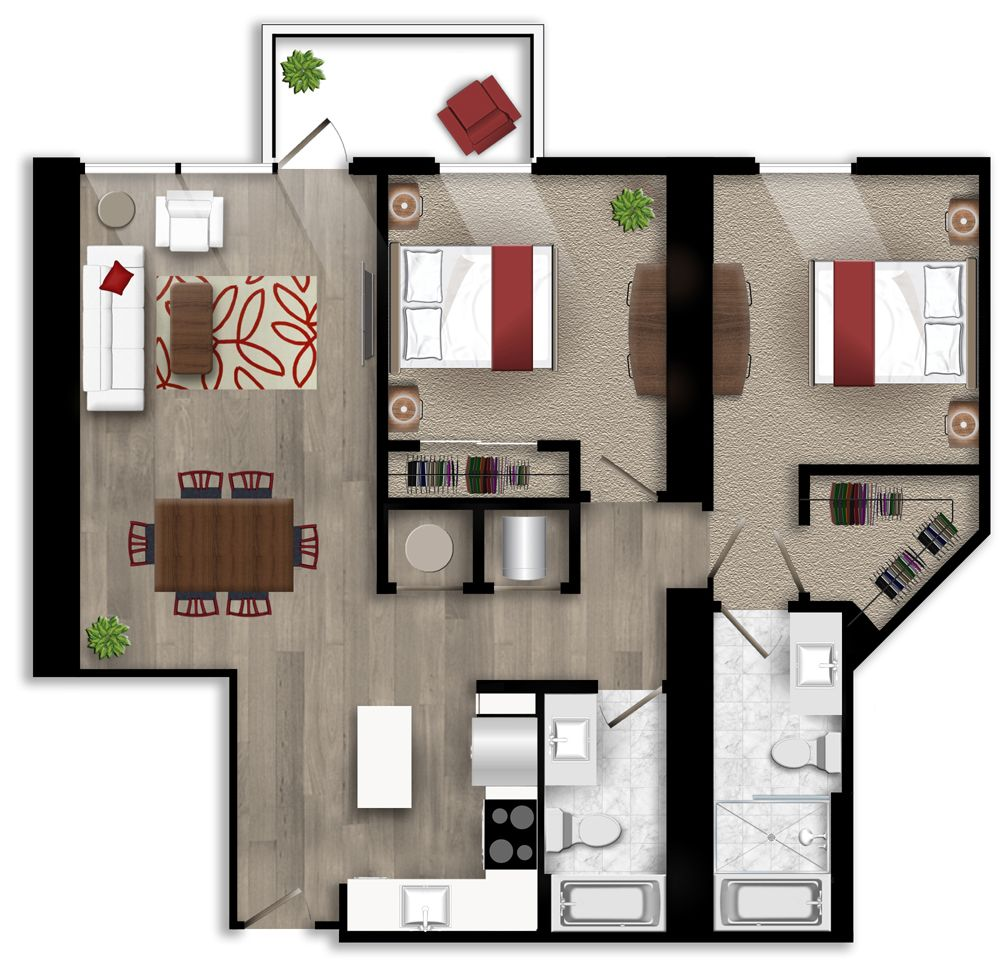 Pin by Icon Midtown Atlanta Apartment on Two bedroom