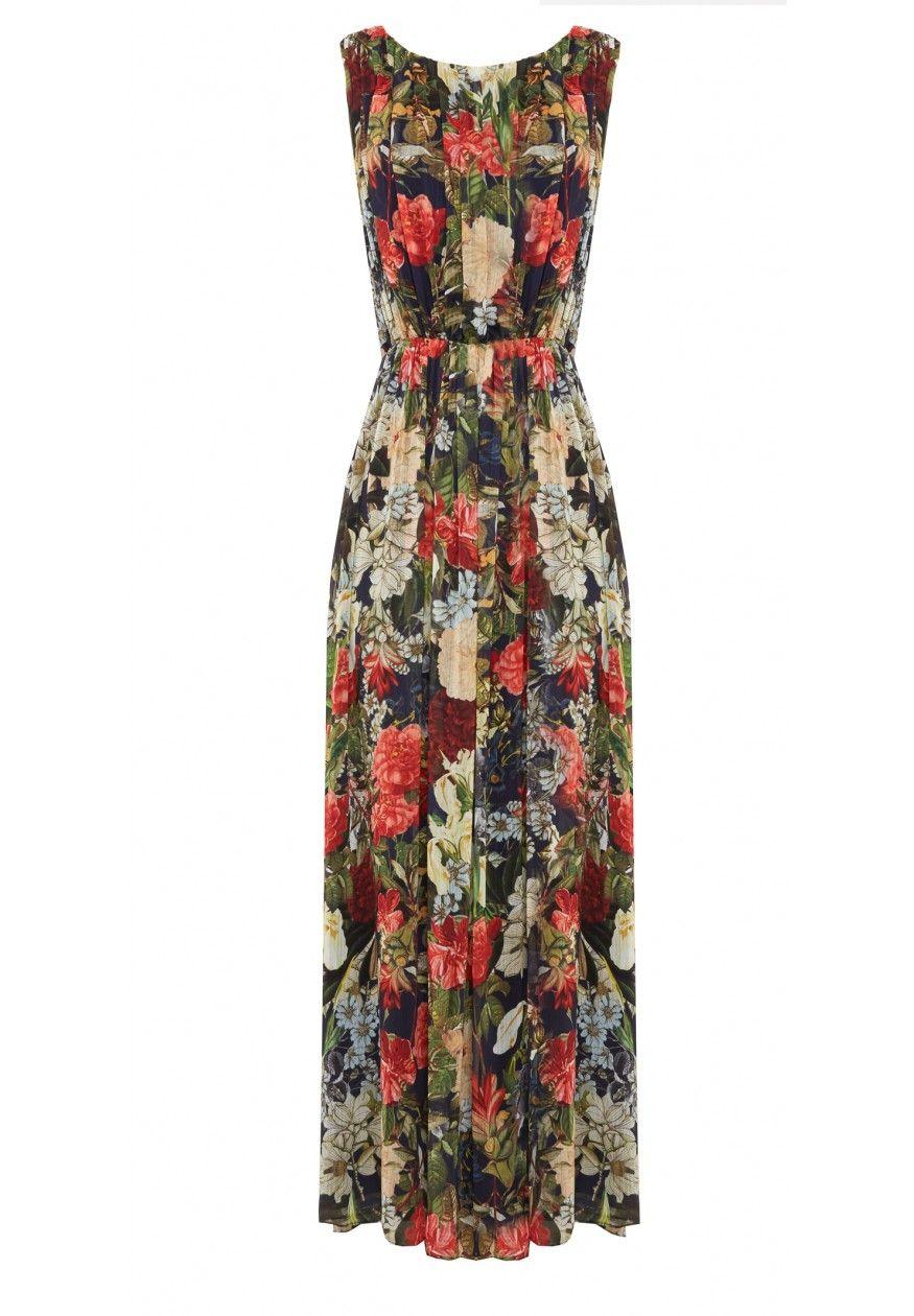 Wheaton yback shirred maxi dress dresses alice olivia