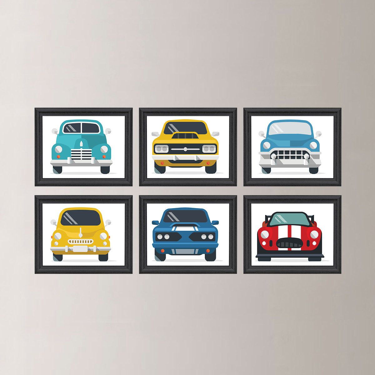 Classic Cars Wall Art, Classic Car Decor, Boy Wall Art, Retro Cars, Vintage Antique Cars Boy Nursery, Transportation Wall Art, Canvas NS-796