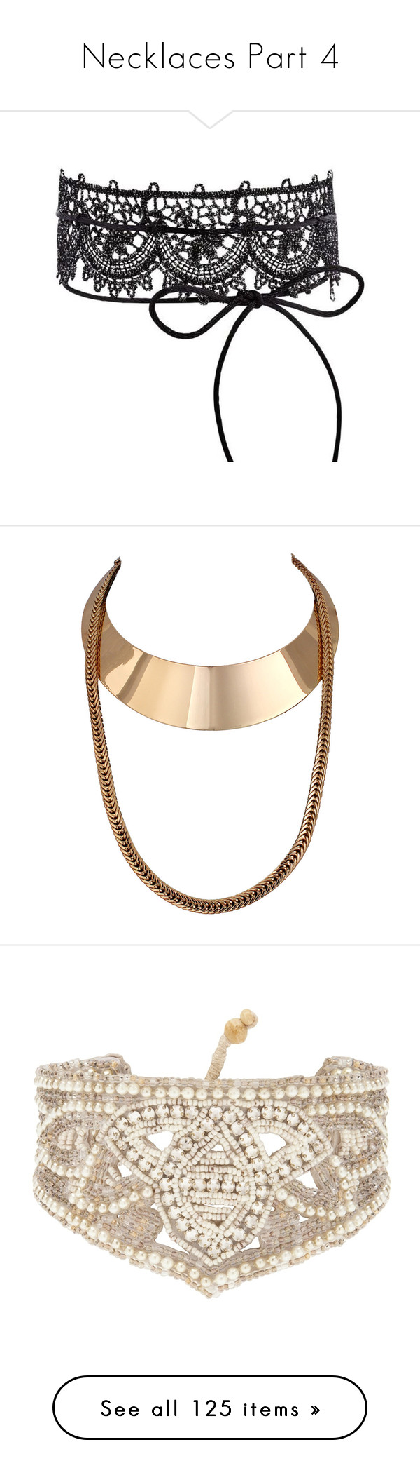 """""""Necklaces Part 4"""" by allison-epps ❤ liked on Polyvore featuring jewelry, lace jewelry, necklaces, choker necklaces, chain choker, chain necklaces, chain choker necklace, chain jewellery, accessories and belts"""