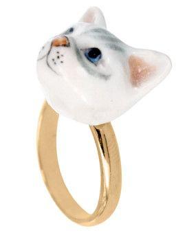 Ring CAT HEAD von NACH BIJOUX www.REYERlooks.com