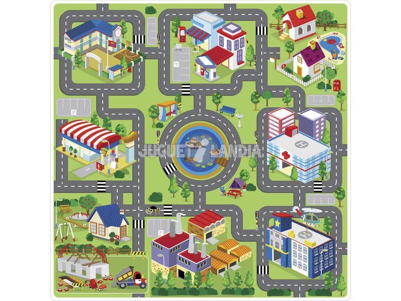 Manta enrollable carretera eva b juguetes enrollados - Alfombras puzzle infantiles ...