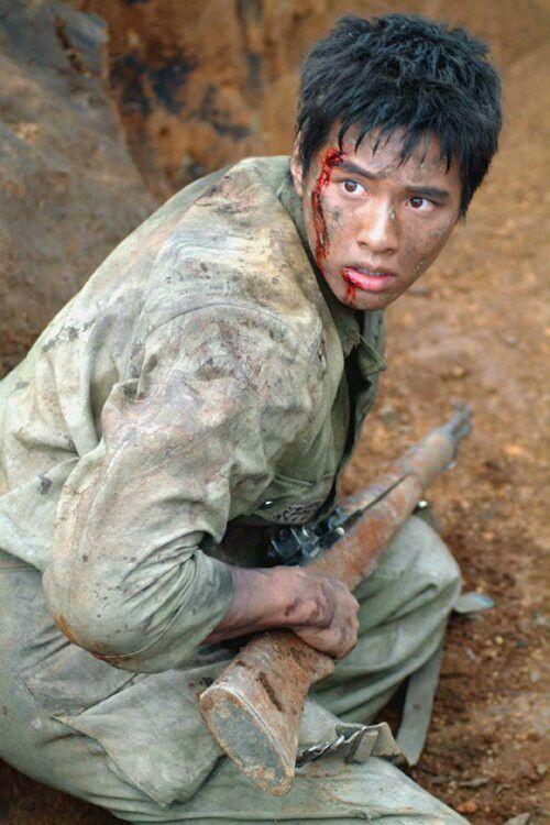 "Won Bin in ""Taegukgi"" movie"