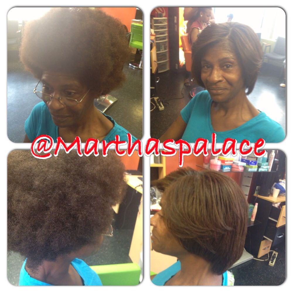 Dominican Blow Out Before And After On Natural Hair With Images