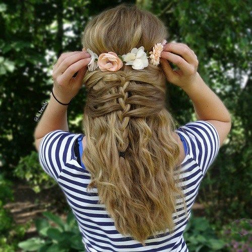 40 Cute and Cool Hairstyles for Teenage Girls | Best Half updo ...