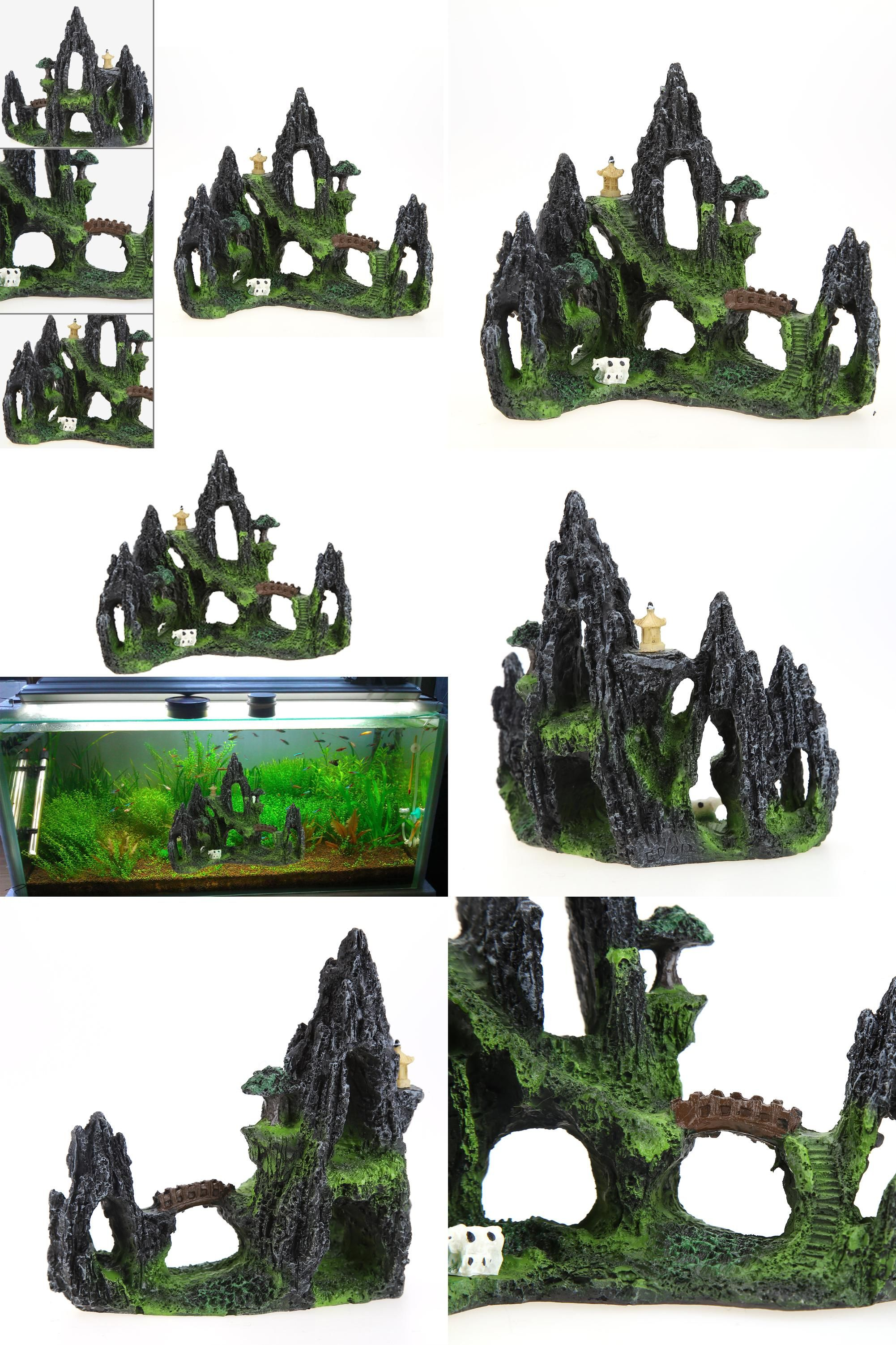 Visit To Buy Mountain View Restin Aquarium Tree House For Fish