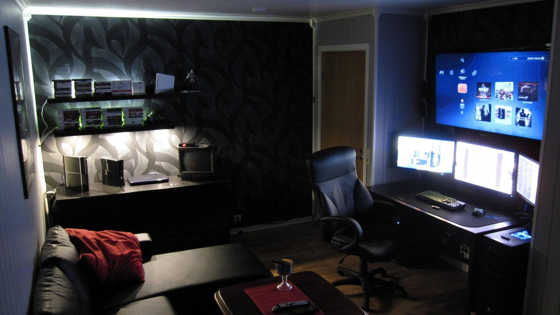 TV Interior Dreams Chairs Bedroom Designs Remote Control Gaming Room Screens Computer Mancave 1920x1080 Wallpaper