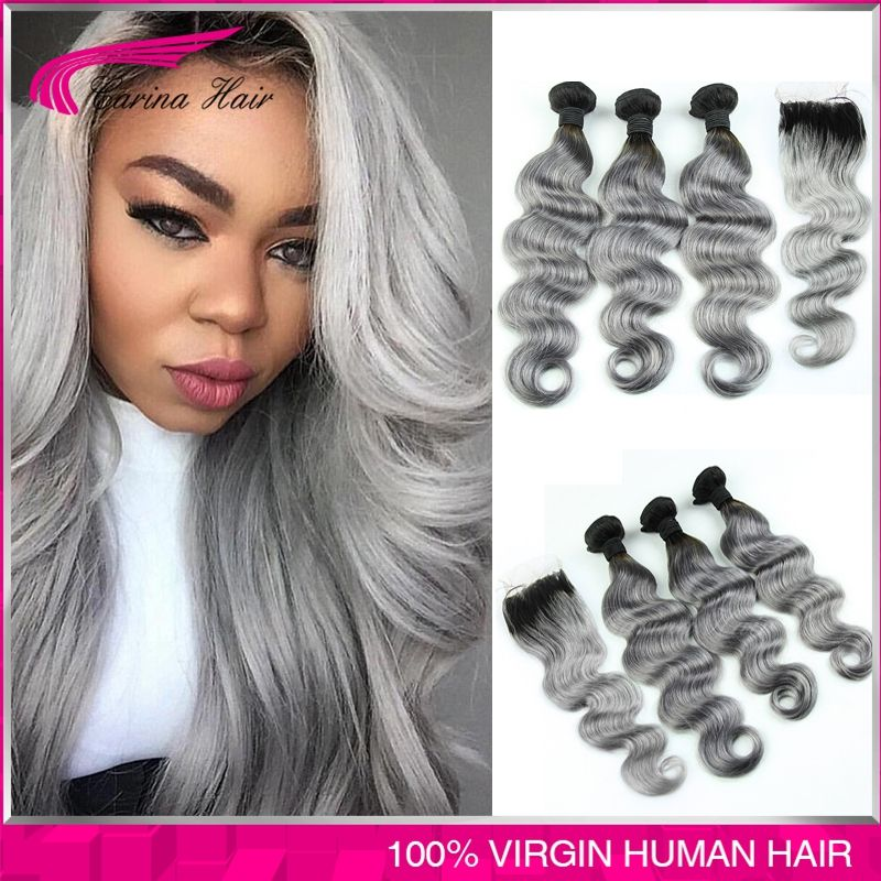 8a silver grey ombre human hair extensions ombre gray brazilian 8a silver grey ombre human hair extensions ombre gray brazilian virgin hair body wave ombre dark pmusecretfo Images