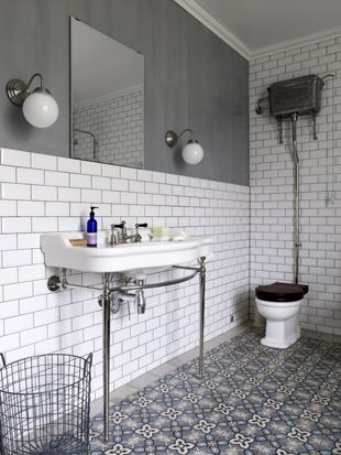 fusion of moroccan tiles and victorian style bathroom suite fus