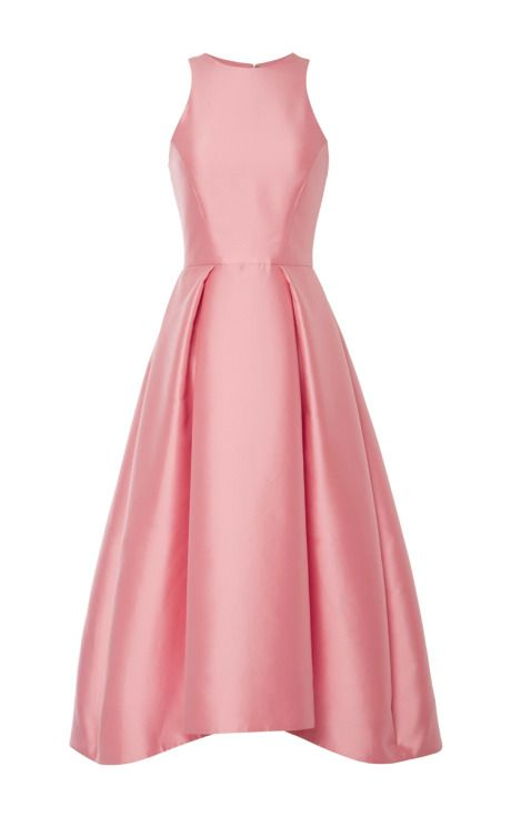 Silk Mikado Structured Midi Dress by Monique Lhuillier Now Available ...