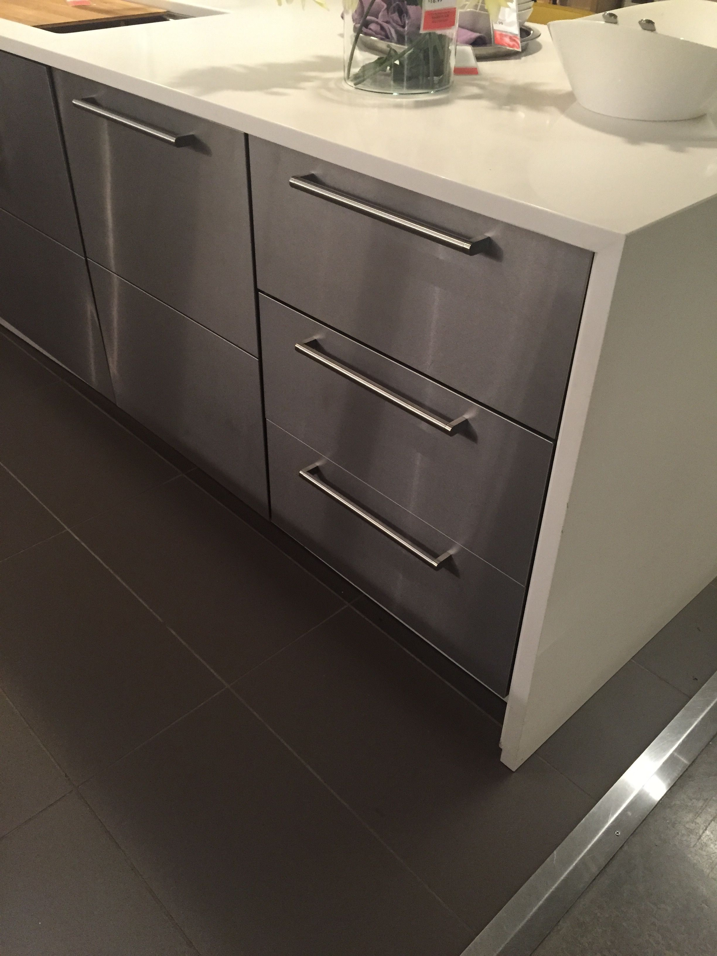 Ikea Panel Küche Ikea Grevsta Stainless Panels Kitchen In 2019 Küche