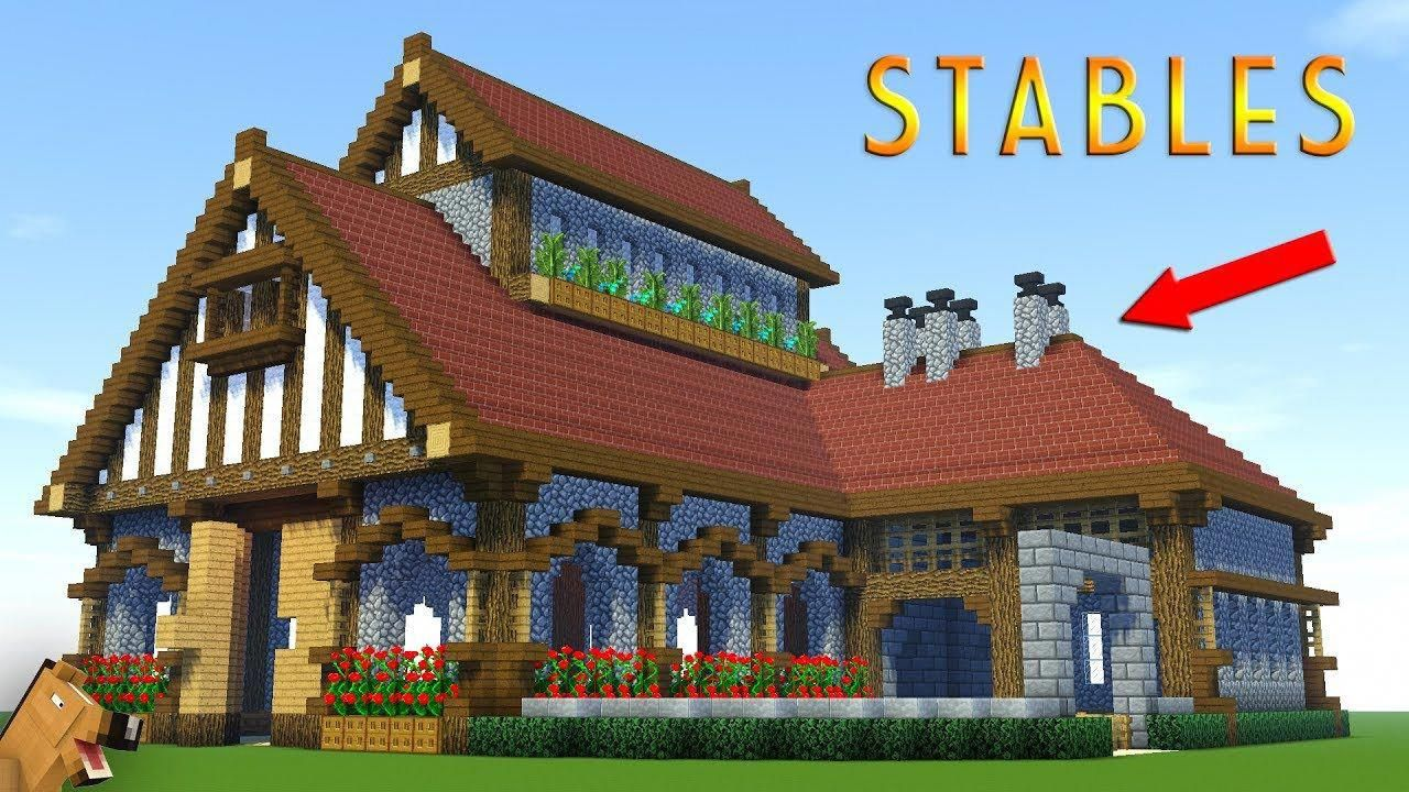 Minecraft: How to Build a LARGE SURVIVAL House Tutorial - Stable