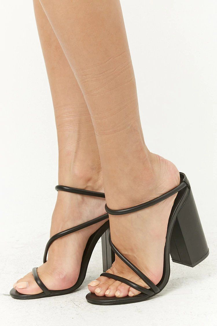 8c6ef458490 Strappy Block Heel Sandals