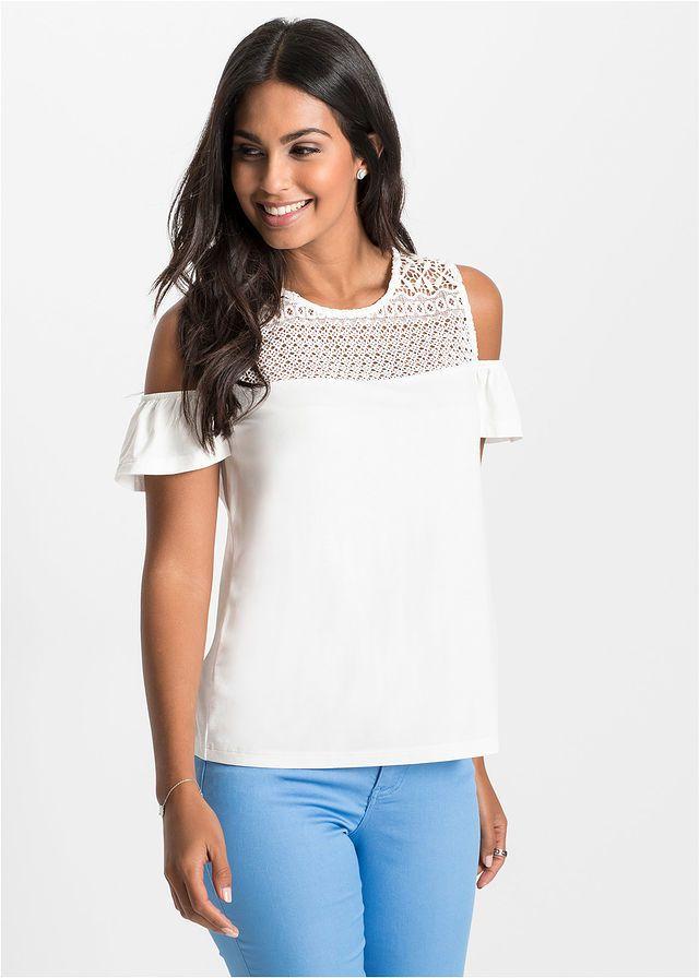 Biała bluzka z koronką, kto chętny? / White blouse with