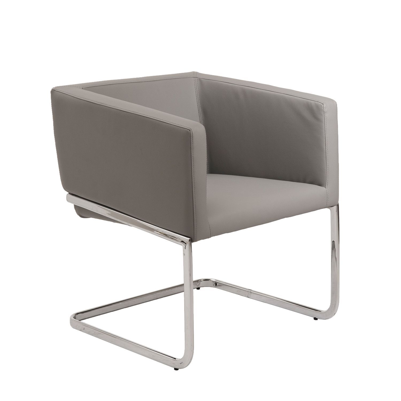Euro Style U0027Ariu0027 Grey Leatherette Lounge Chair By Euro Style