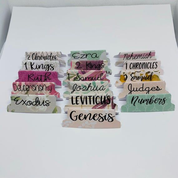 Love goes on Bible tabs- Double Sided and Laminated with Adhesive
