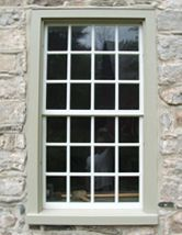17th c. Stone House    17th c. Dutch Colonial window with mortise and tenon, white oak-plank frame and reproduction sash with hand-blown cylinder glass. Kingston, New York