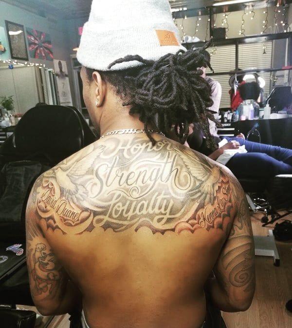 Strength💪🏾, Honor ✊🏾, & Loyalty🔒 . . . . . #ink #tattoo #tattoos #chicagotattoos #chicago #backattoo #tattooed #inkedlife #tattoomodel #tattooedguy #inked #inkedguy #tattoomodels #tattoomagazine #inkedguysdoitbetter #sidetattoo #tattooist #tattooedguysofinstagram #inkedup #inkedmag #tattooaddict #tattoopain #inkmywholebody #howmanytattoosdoyouhave