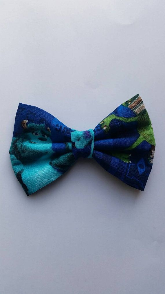 #bowties #monsterinc Hey, I found this really awesome Etsy listing at https://www.etsy.com/listing/228280612/monster-inc-inspired-hair-bow-boys-bow