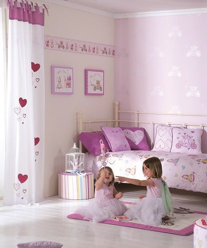 Habitación niña. Hadas, carrozas y corazones para la princesa de la ...