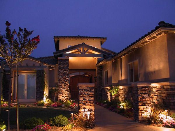 outdoor stone wall designs outdoor lighting ideas for stone walls