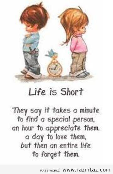 LIFE IS SHORT ... - http://www.razmtaz.com/life-is-short-4/