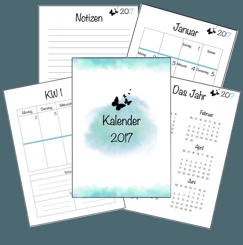 kalender 2017 basteln pinterest kalender 2017. Black Bedroom Furniture Sets. Home Design Ideas