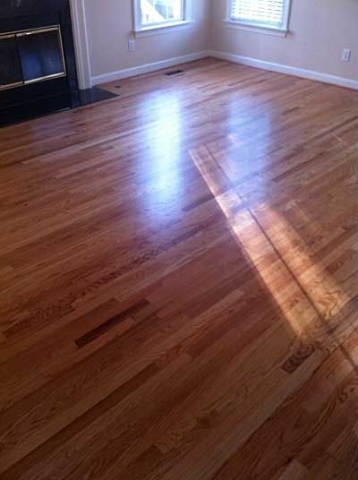 Red Oak With Clear Stain Amp Bona Traffic Hd Satin