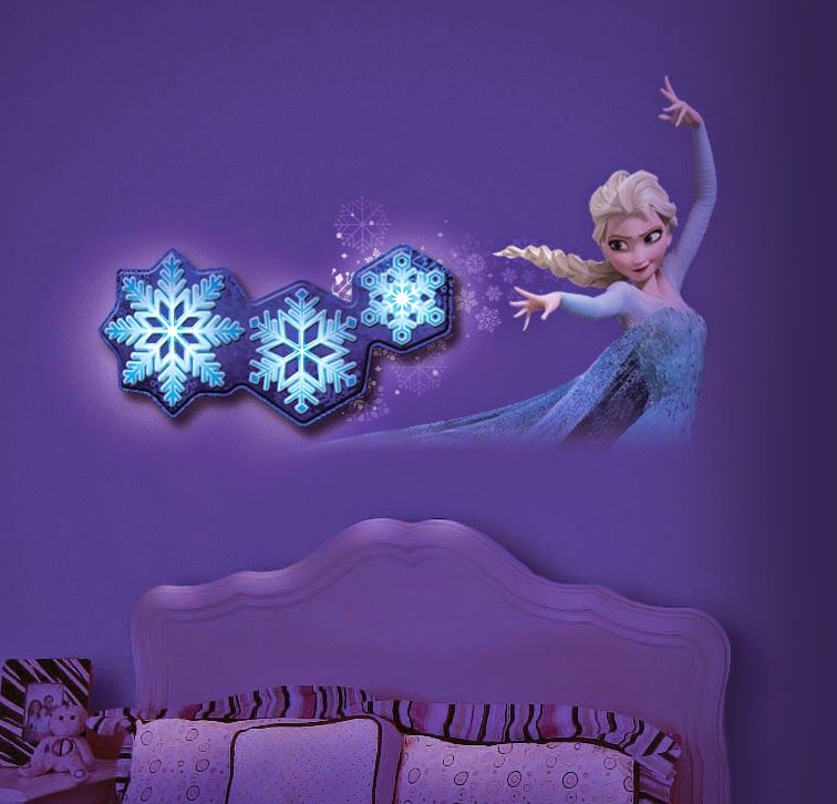 how adorable is this frozen room decor from unclemilton