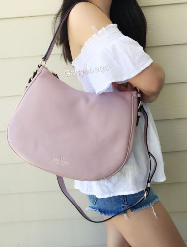 28156a304b NWT KATE SPADE Cobble Hill Mylie Leather Shoulder Bag Pink Granite Hobo  Tote Tailored Shorts
