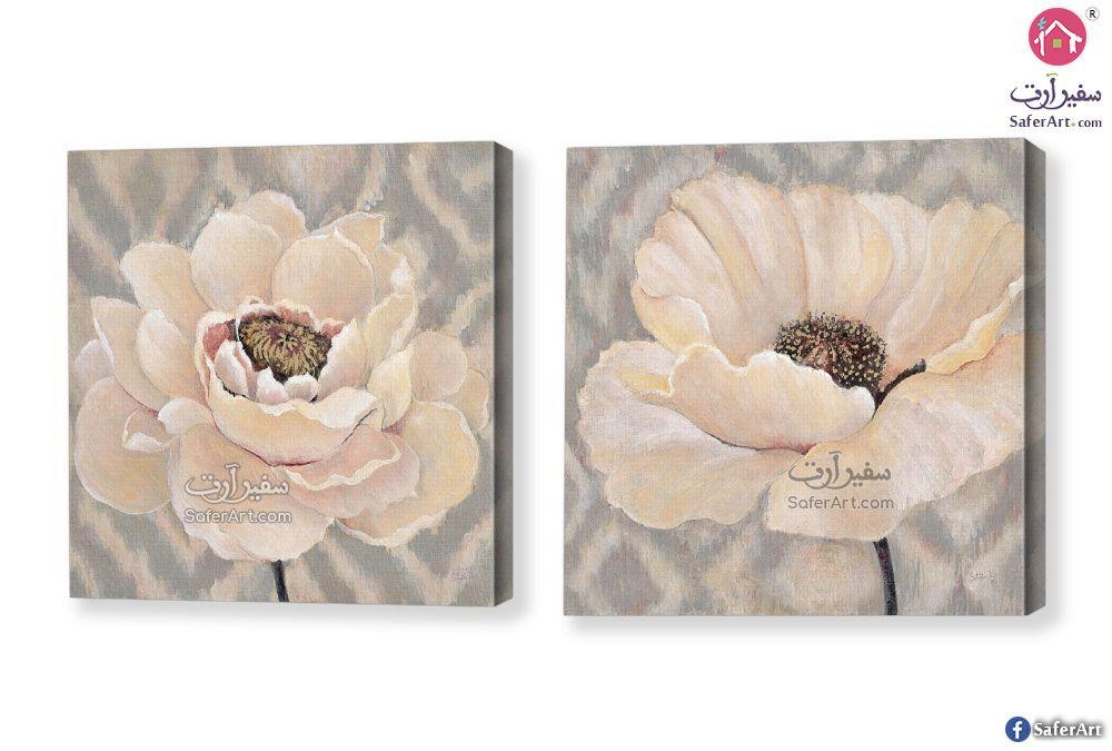 لوحات ورود اوف وايت سفير ارت للديكور White Roses Canvas Rose