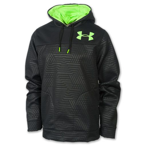 952cfcead Men's Under Armour Fleece Storm Eyenit Hoodie | FinishLine.com |  Black/Hyper Green