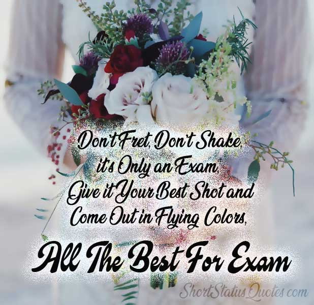 Exam Wishes Status And Good Luck Messages For Exam Exam Wishes