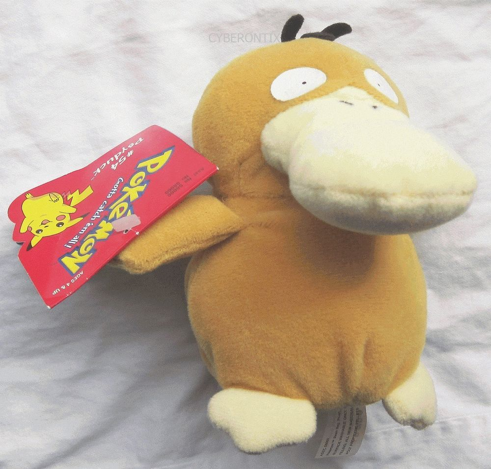 Vintage Pokemon PSYDUCK plush beanie (stuffed animal) AUTHENTIC from ...