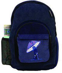 Corduroy Backpack with Mushroom Embroidery Medium