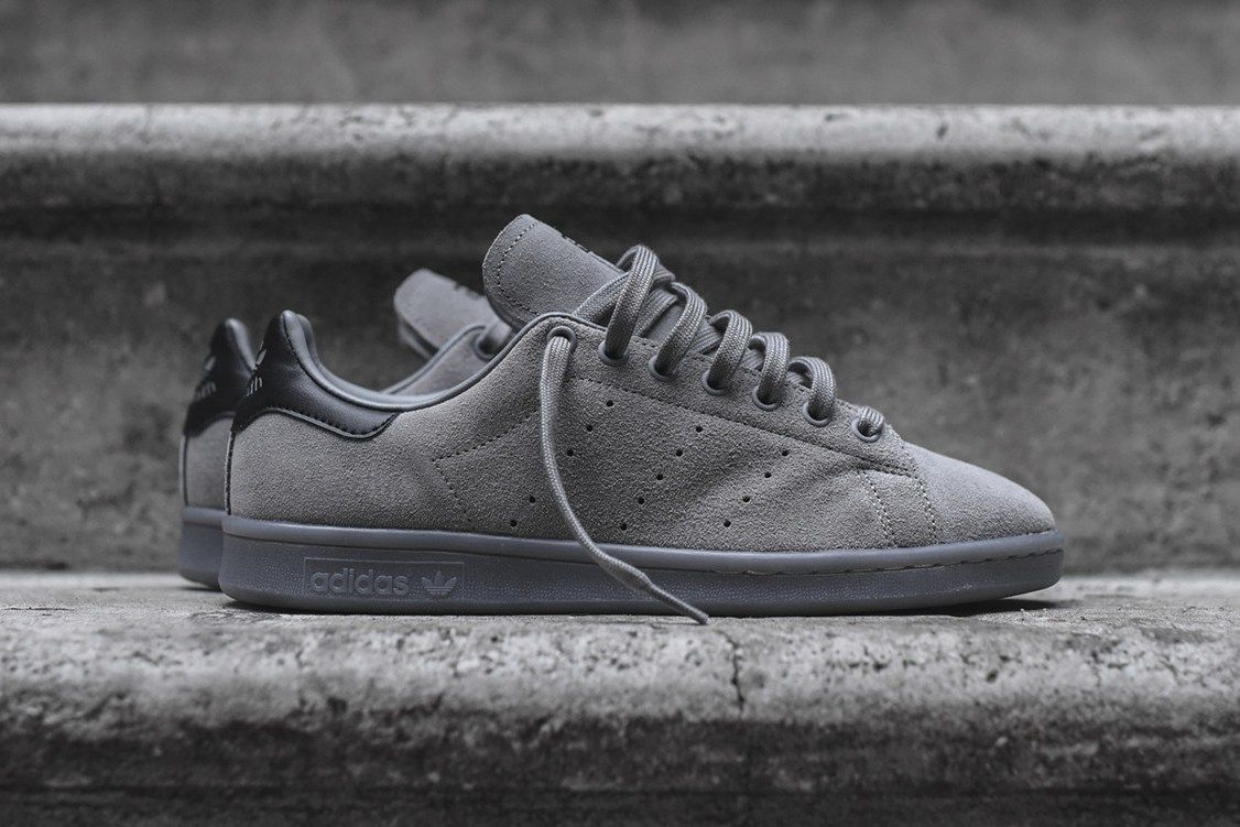 adidas Covers the Stan Smith in Charcoal Suede | Adidas
