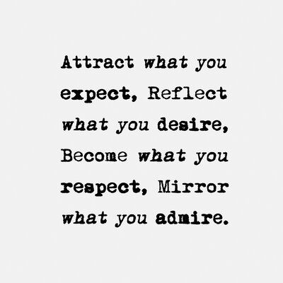 Wrought Studio™ 'Attract What You Expect' - Textual Art Print on Canvas, Canvas & Fabric in Brown/Black, Size 12