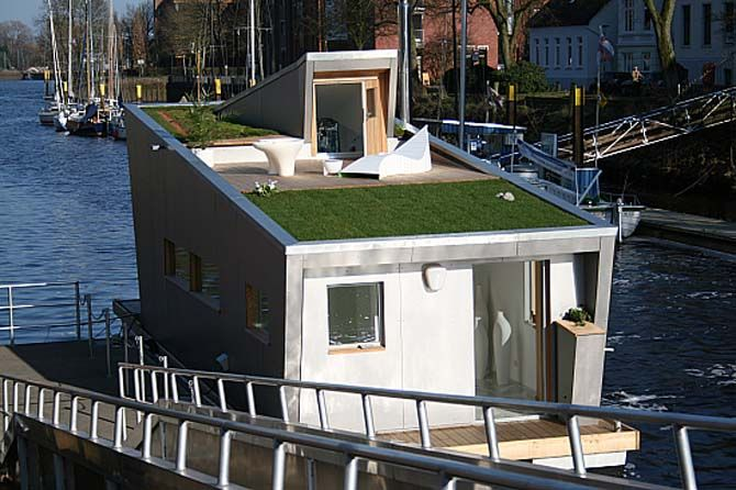 MoreInDesign by FERNANDA SEABRA: Maravilha este design de casa flutuante! Super prático e clean!