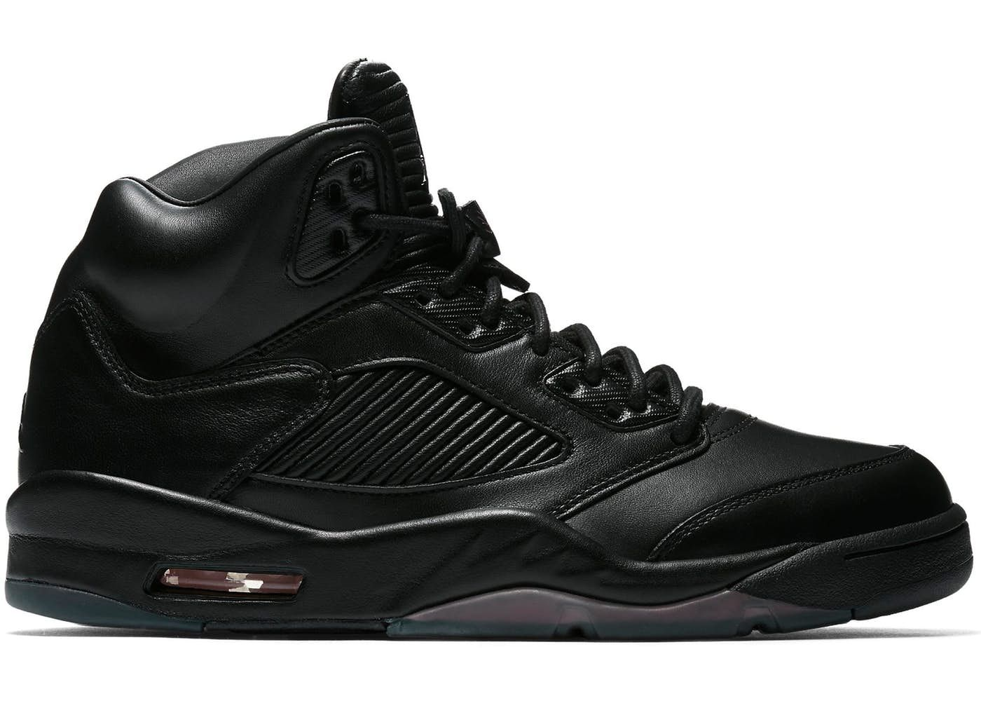 air jordan 5 all black