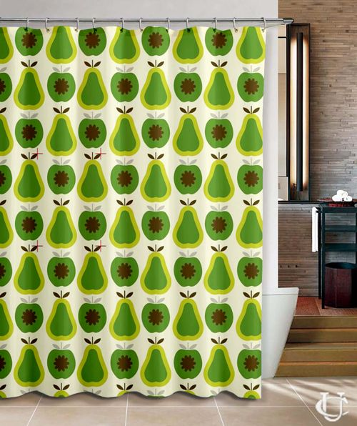 ORLA KIELY Apples And Pears Shower Curtain Cheap Best Quality 100 Money