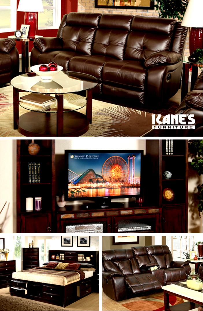 Make dad's day this Father's Day by giving him the perfect man cave! Explore our rich brown leather recliners, like the Tempest, or huge entertainment centers, like the Santa Fe. After a trip to Kane's you may become his favorite.